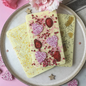 Boozy Valentine's White Chocolate Trio