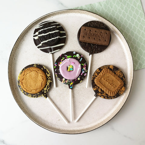 Vegan Biscuit Letterbox Lollipop Set