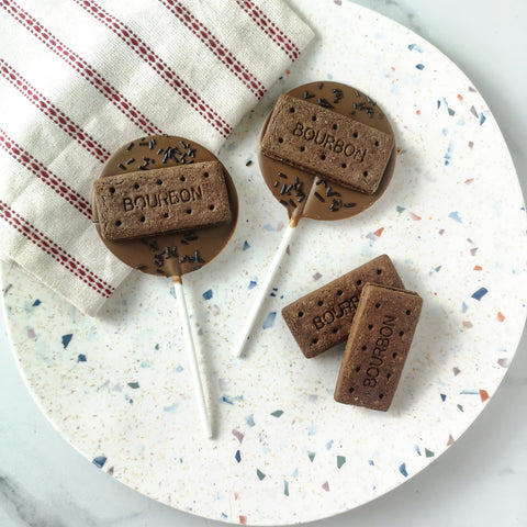 Milk Chocolate Bourbon Biscuit Lollipop
