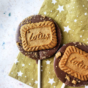 Milk Lotus Biscuit Lollipop