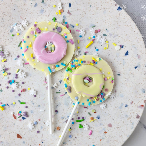 White Chocolate Party Ring Lollipop