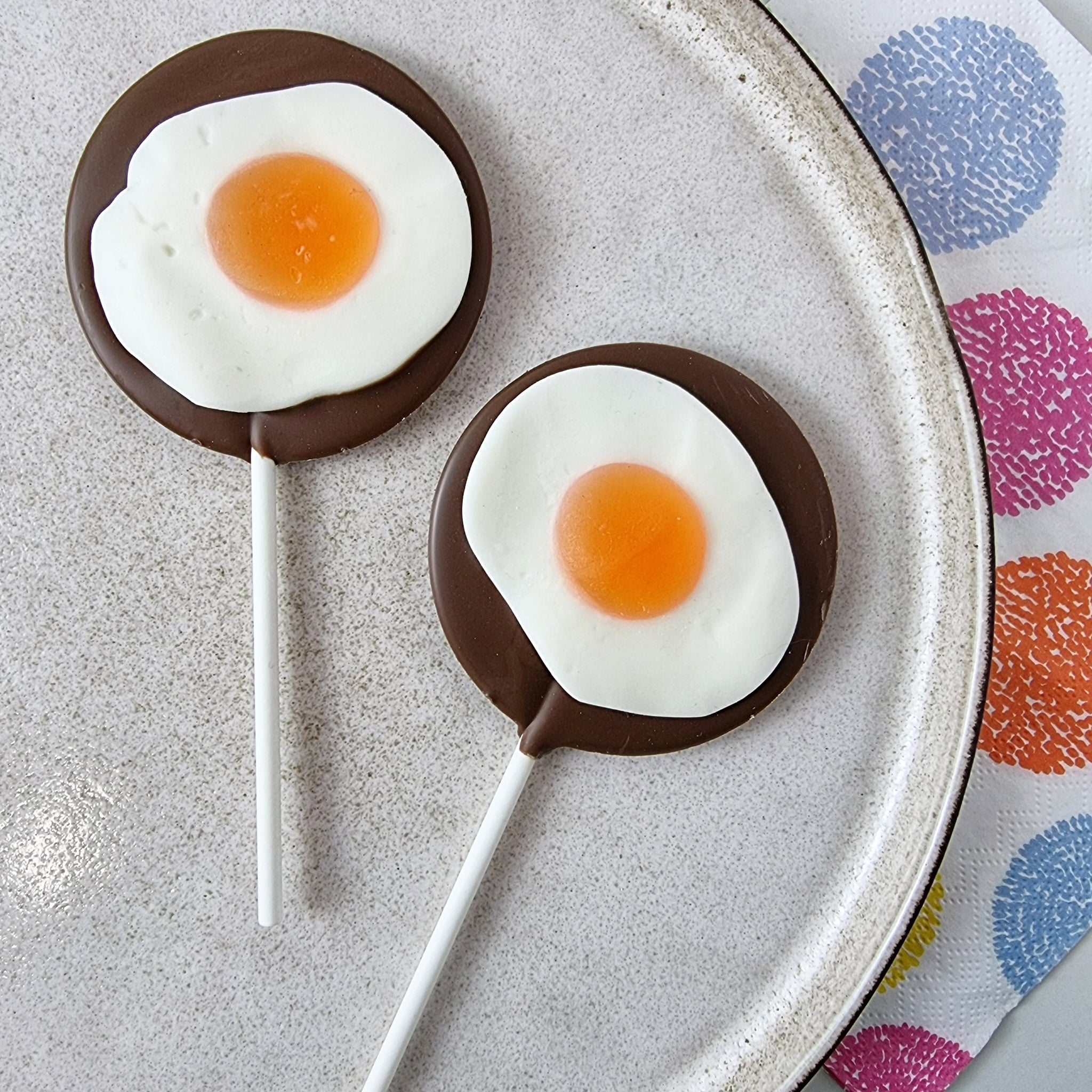 Fried Egg Lollipop