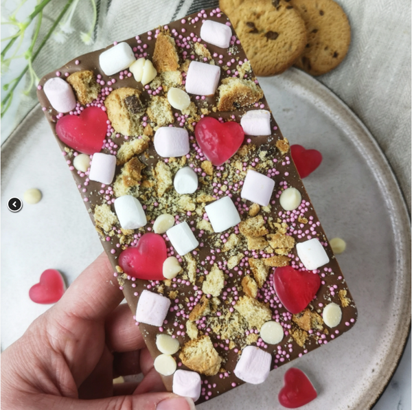 Cookies and Hearts Rocky Road Slabb