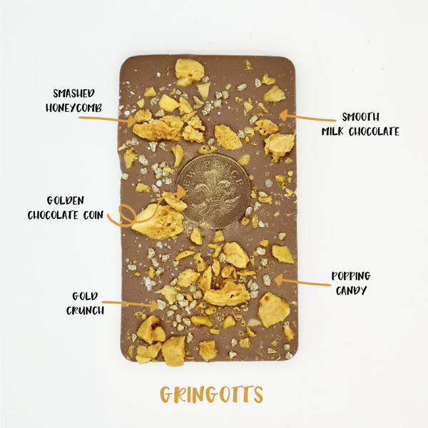 The Gringotts One - The Home Of Fully Loaded boozy Chocolate. Large Slabbs of boozy chocolate with a variety of alcoholic ganaches; gin, rum, whisky, amaretto, baileys and toppings. Available as monthly subscriptions.