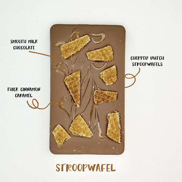 The Stroopwafel One - The Home Of Fully Loaded boozy Chocolate. Large Slabbs of boozy chocolate with a variety of alcoholic ganaches; gin, rum, whisky, amaretto, baileys and toppings. Available as monthly subscriptions.