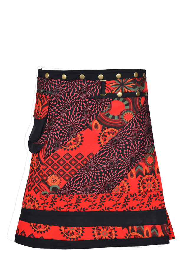 Knee-Length Multi Colour Summer Skirt - Craze Trade Limited