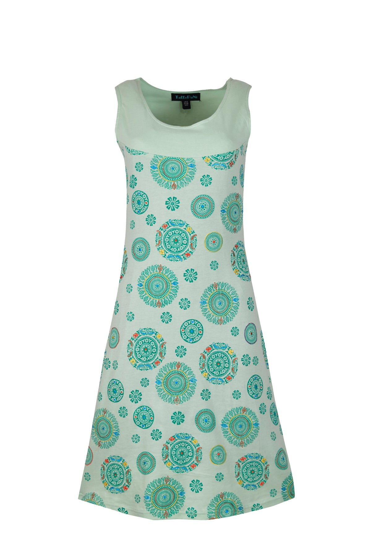 Ladies sleeveless dress with chakra print. - Craze Trade Limited