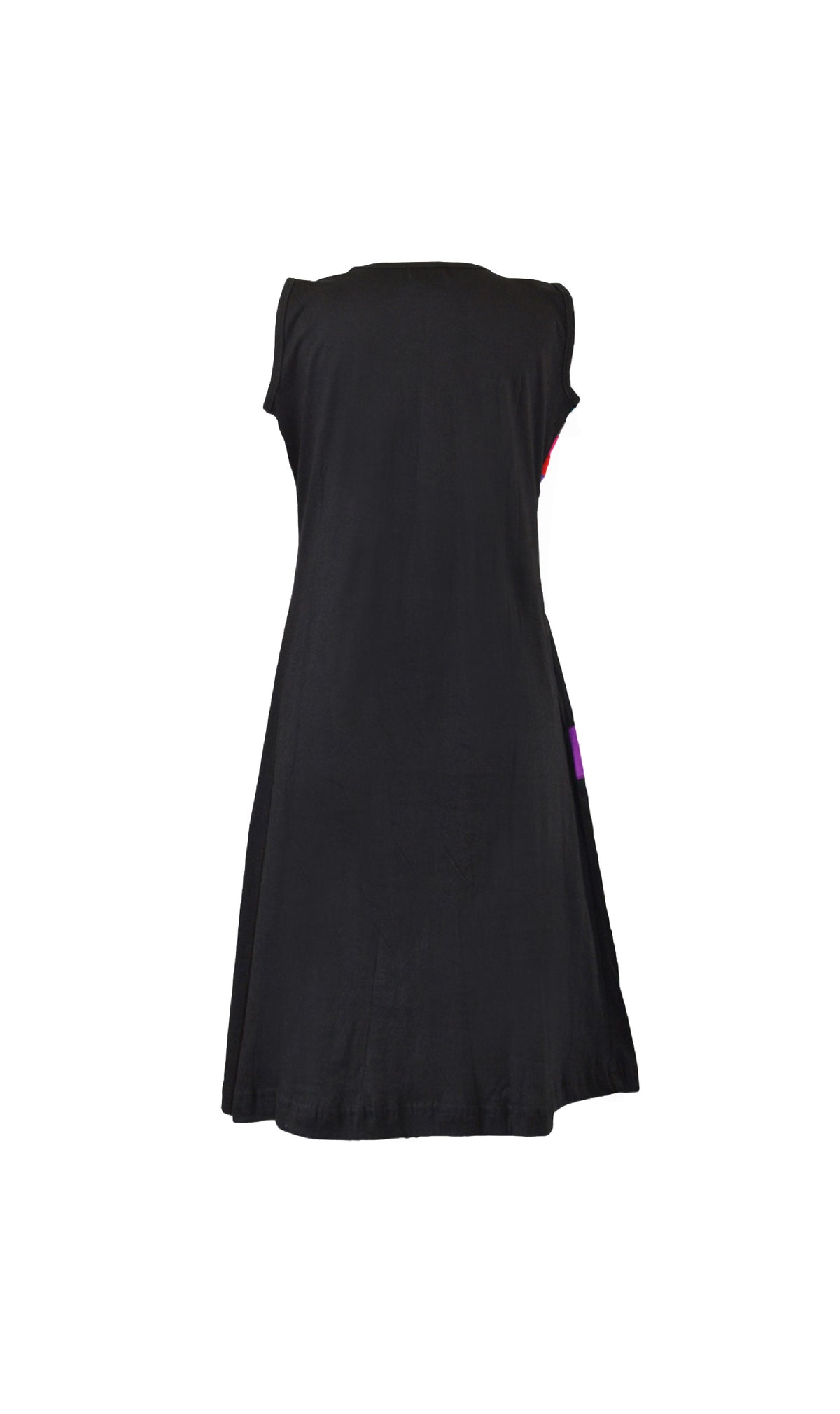 Sleevless dress for ladies with square patch design - Craze Trade Limited