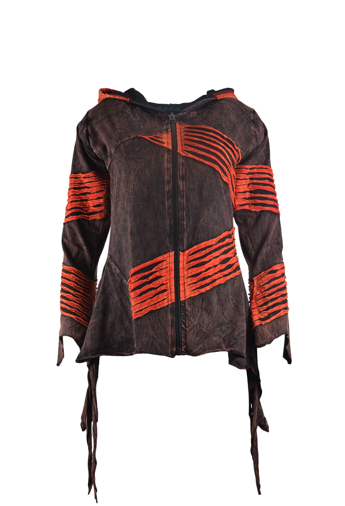 Ladies Long Sleeved Multi Colored Hoodies Jumper with Razor Cut Design and Side Pockets - Craze Trade Limited