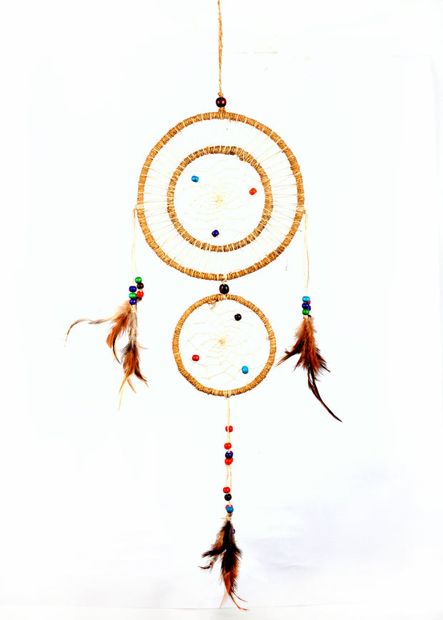 Bermoni Handmade Dream Catcher Net With Feathers Wall Hanging Decorations (DT-DRM-1105NRL) - Craze Trade Limited