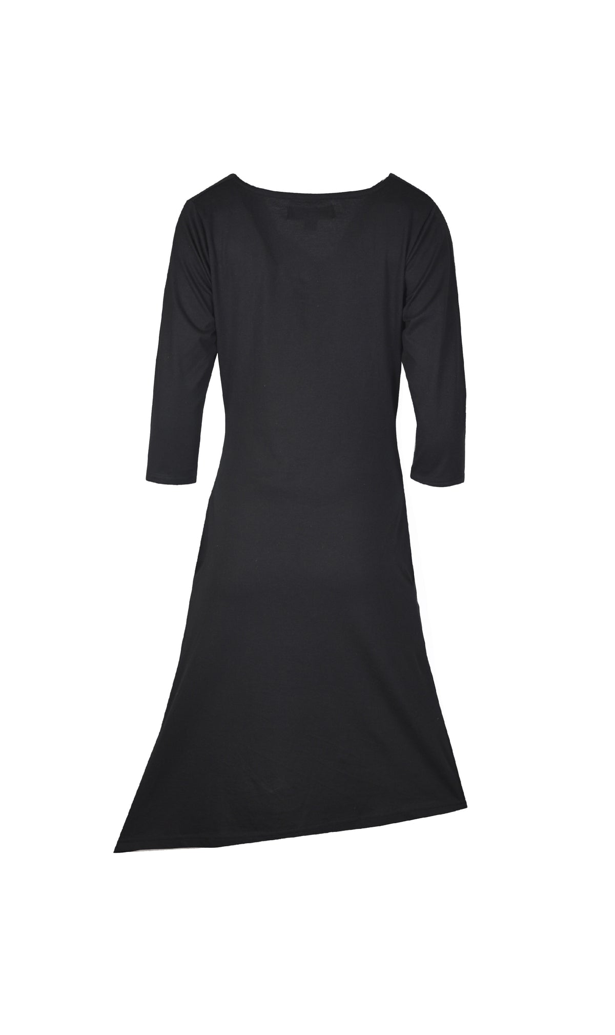 Ladies quarter sleeve dress with front embroidery. - Craze Trade Limited