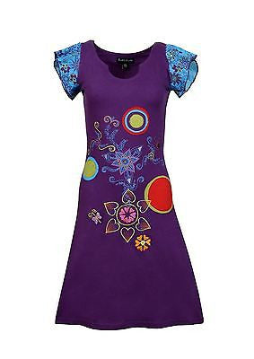 Ladies Short sleeved Multicolored Embroidery and Patch Pattern - Craze Trade Limited