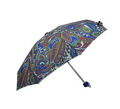 Ladies Colorful Folding Umbrella with floral pattern MINI Size when folded (0336MULTI) - Craze Trade Limited