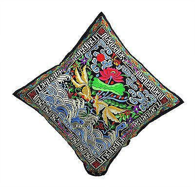 Cushion Cover with  floral embroidery  45 x 45cm - BERMONI -(ZZ-12) - Craze Trade Limited