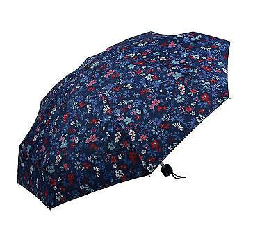 Ladies Colorful Folding Umbrella with floral pattern MINI Size-(0336BLE) - Craze Trade Limited