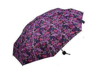 Ladies Colorful Folding Umbrella with floral pattern MINI Size-(0336PPL) - Craze Trade Limited
