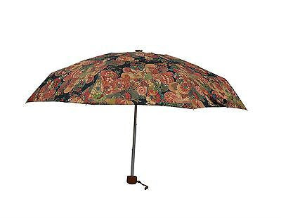 Ladies Colorful Folding Umbrella with floral pattern MINI Size-(0336BRW) - Craze Trade Limited