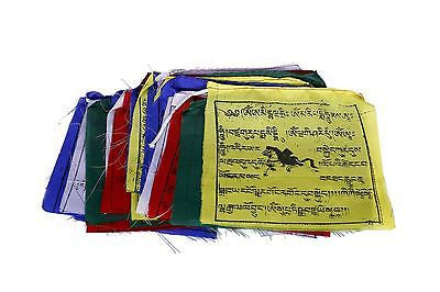 Buddhist Fluttering Prayer Flags (Lungta) Mantras And Wind Horses- 25 FLAGS-2 - Craze Trade Limited