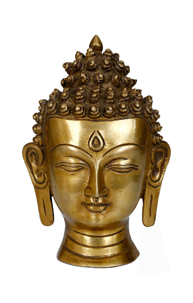 Bermoni Lord Buddha Head Wall Hanging Mask Sculpture Statue -(BUD-MASK-1) - Craze Trade Limited