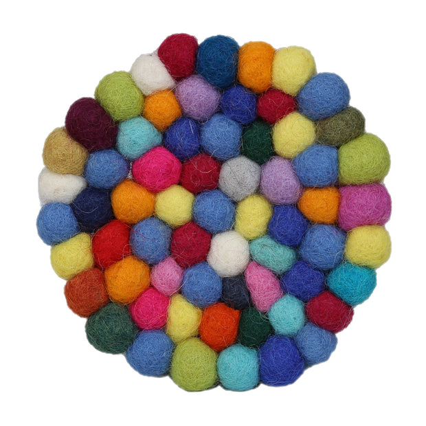 Felt Ball Coaster-Colorful, Soft And Warm - Craze Trade Limited