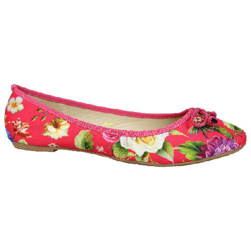 Ballerina Pumps Comfort flat Shoes with Floral Pattern- CH-SR-3456 - Craze Trade Limited