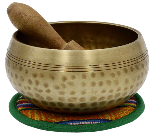 Hand hammered Meditation Singing Bowl with matching protective bag B66 - Craze Trade Limited