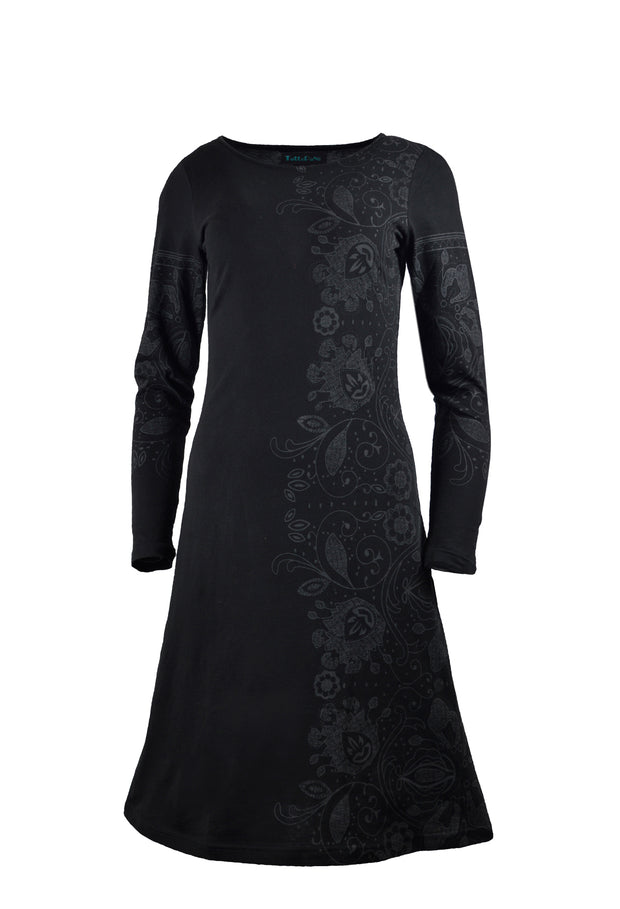 Ladies long sleeve dress with side print & sleeve print. - Craze Trade Limited