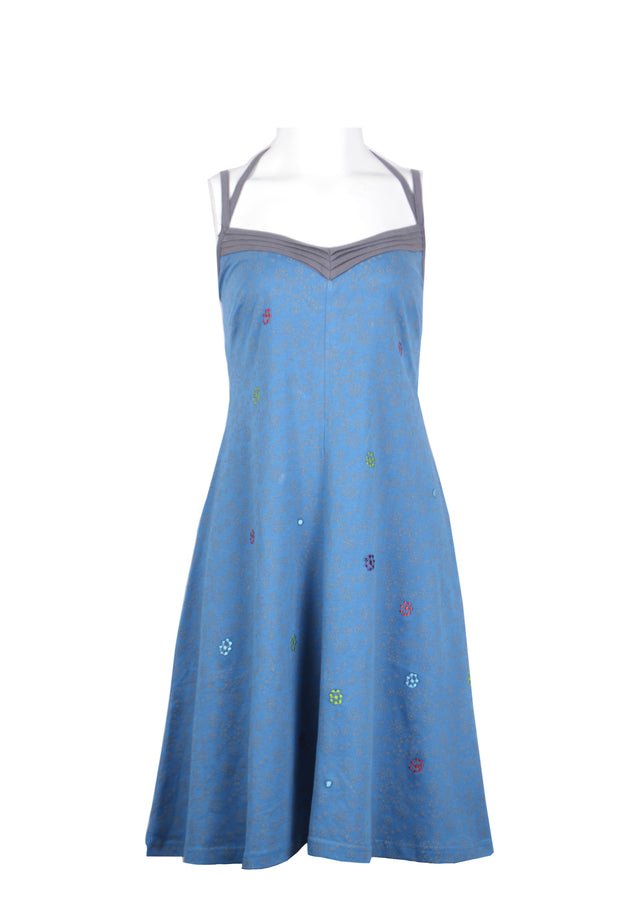 Ladies Summer Slip Dress with Flower Pattern Print - Craze Trade Limited