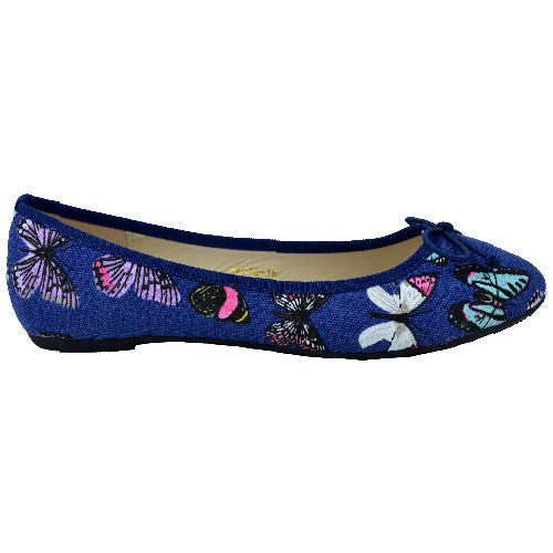Ballerina Pumps Comfort flat Shoes with Pattern of Butterflies- CH-SR-A4016-18 - Craze Trade Limited