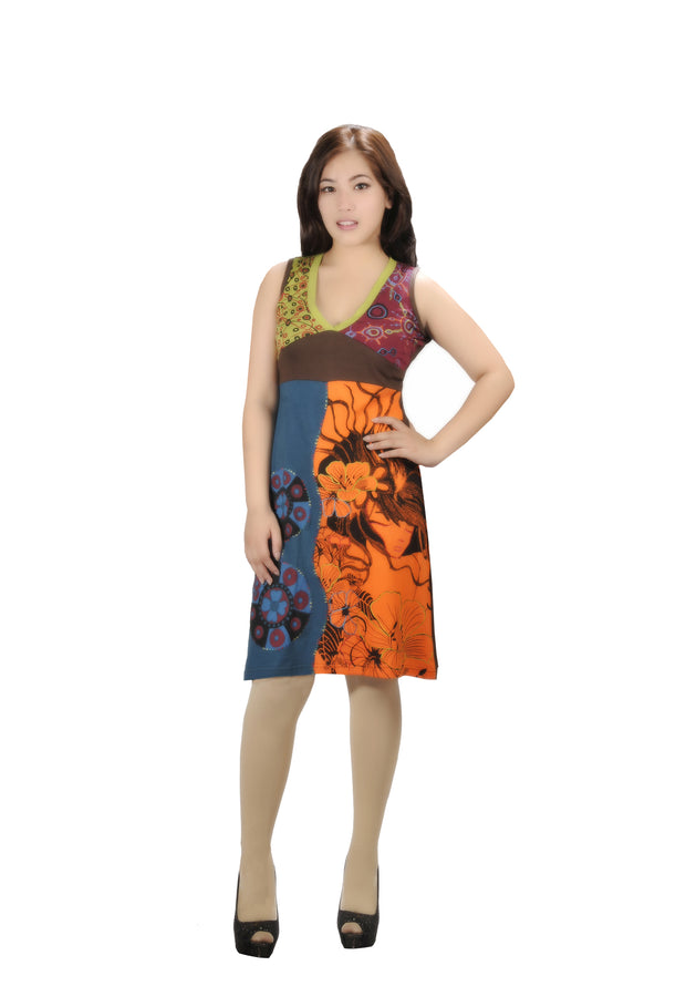 LADIES SLEEVELESS DRESS WITH EMBROIDERY WORK - YINYAN… - Craze Trade Limited