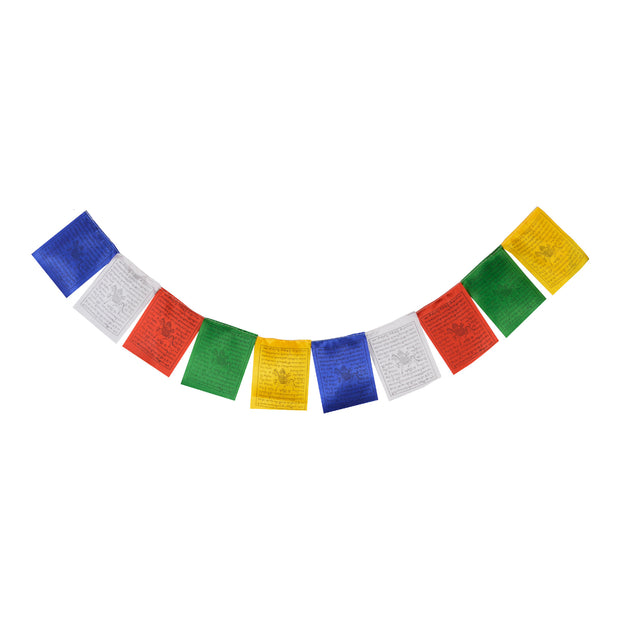 Silk Tibetan Buddhist Prayer Flags (Lungta)with Approx 400 Mantras, Wind Horses(6 strings x 10 flags) -FH-FLAG-104(S6) - Craze Trade Limited