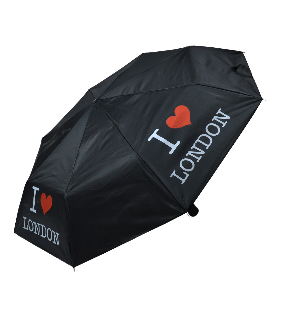 "Black Folding Umbrella with""I love London"" Print. Light & Easy to Carry -(LON-02) - Craze Trade Limited"