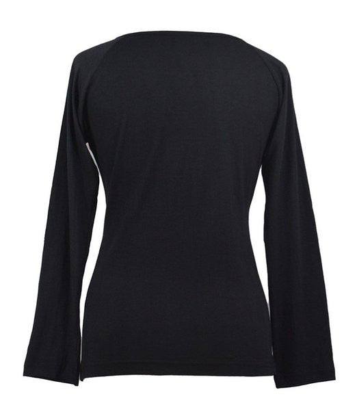 Long Sleeved Tops With Patch and Embroidery - Craze Trade Limited