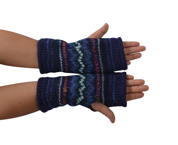 Women's Woolen Hand Warmer Fleece Lined Aztec Pattern Winter Hand warmers - Craze Trade Limited