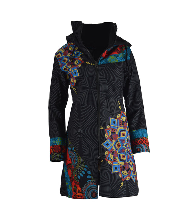 Women's Long Sleeve Cotton Jacket Multi Pattern Ladies Trench Coat - Craze Trade Limited