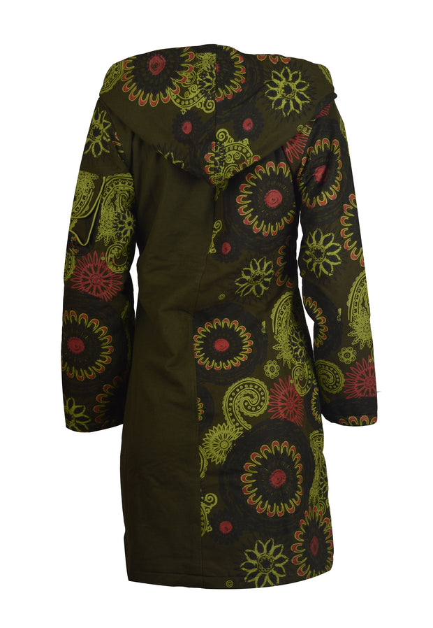 Women's Long Sleeve Cotton Jacket Floral Pattern Ladies Trench Coat - Craze Trade Limited