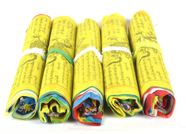 Tibetan Buddhist Fluttering Cotton Prayer Flags (Lungta) Mantras And 5 designs Features - Craze Trade Limited