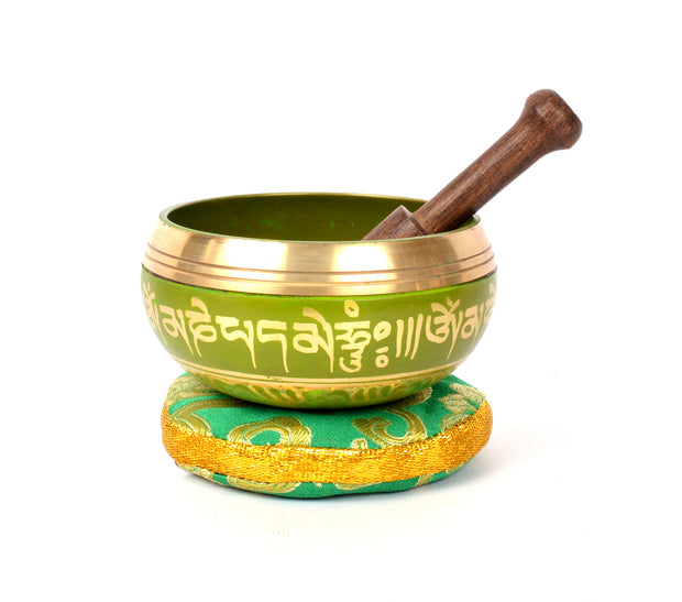 Tibetan Meditation Singing Bowl with Craved Om Mani Padme (MH-SING-1991LME) - Craze Trade Limited