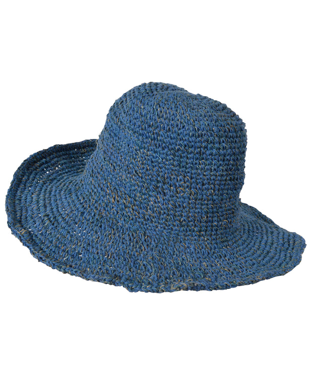 Wide Brim Kniited Summer Crochet Hemp Cotton Mix Hat - Craze Trade Limited