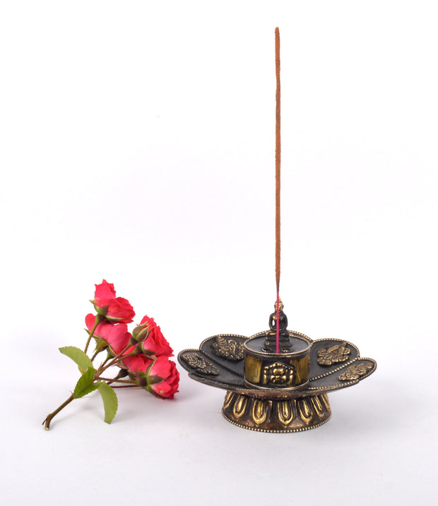 8 Lucky Symbol Engraved With Buddha On Top Incense Holder(KTM-BNR1053-8SYM) - Craze Trade Limited