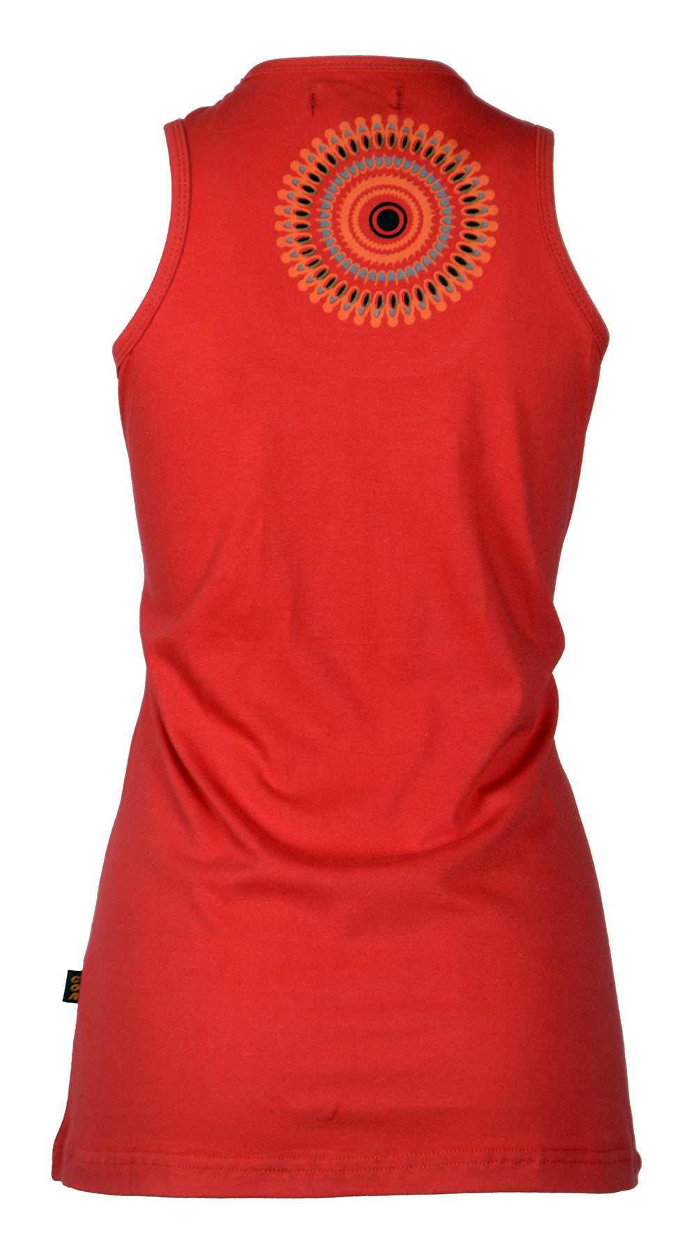 Ladies Summer Sleeveless Tops T-Shirt with Colorful Ring Pattern Print-Sunflower - Craze Trade Limited