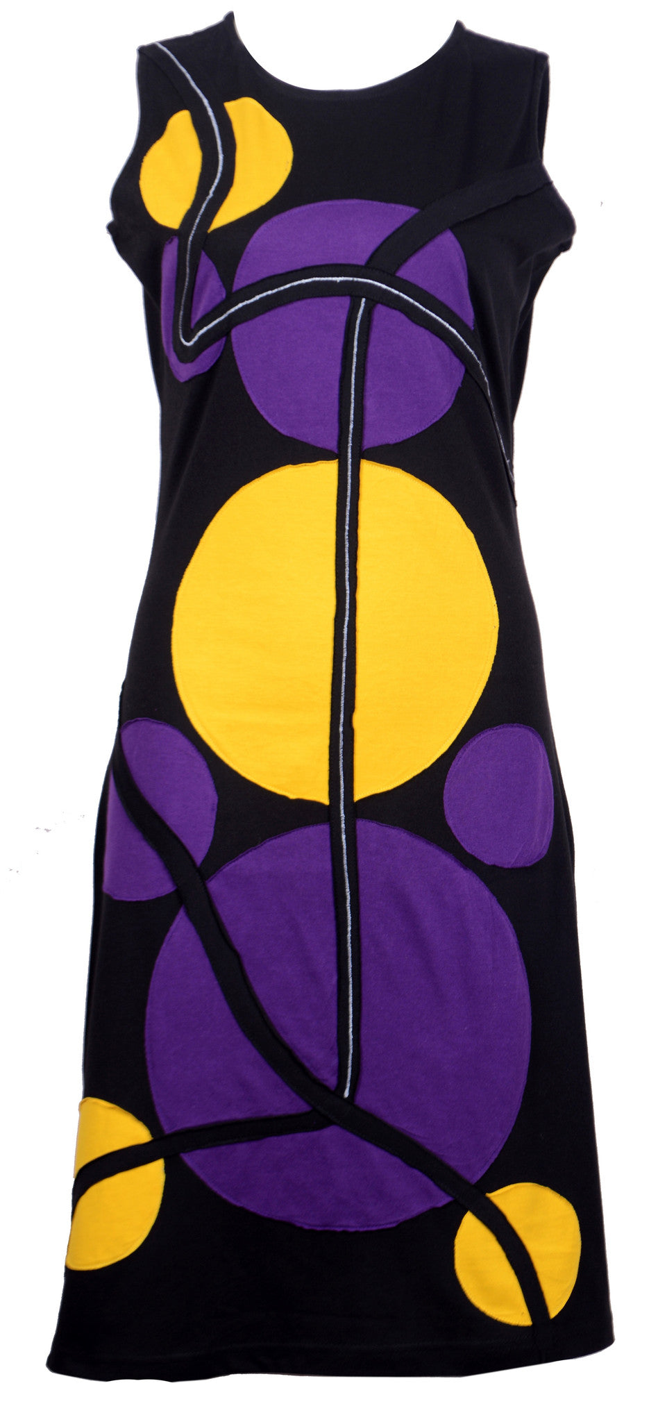 Ladies Summer Sleeveless With Colorful Patch-Eclipse - Craze Trade Limited