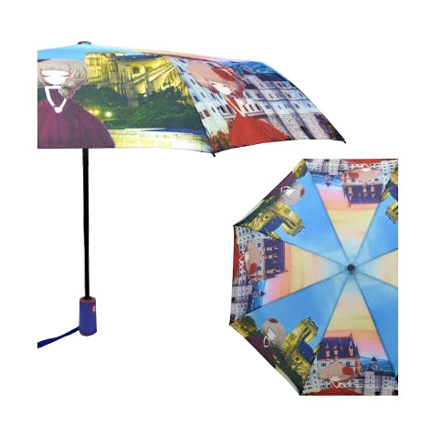 COLORFUL LADIES UMBRELLA WITH PRINTED CITY GIRLS. AUTOMATIC OPENING & CLOSINGPPL - Craze Trade Limited