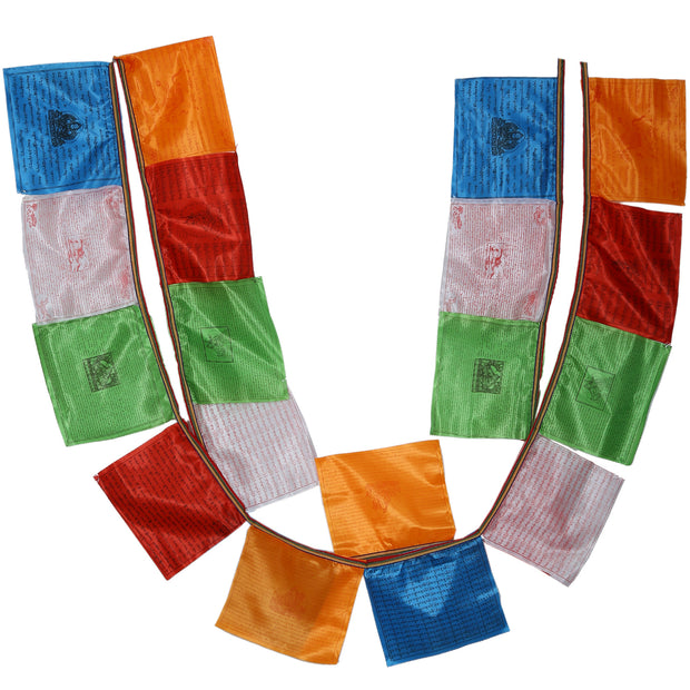 Silk Tibetan Buddhist Fluttering Prayer Flags (Lungta) with Approximately 400 Traditional Mantras, Deity and Wind Horses- - Craze Trade Limited