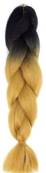 TWO TONE OMBRE JUMBO BRAIDING HAIR - GOLDEN BRONZE