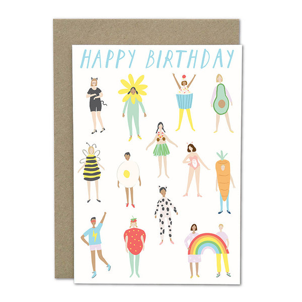 "Amelia Flower Greeting Card + Envelope ""Costume Party"""