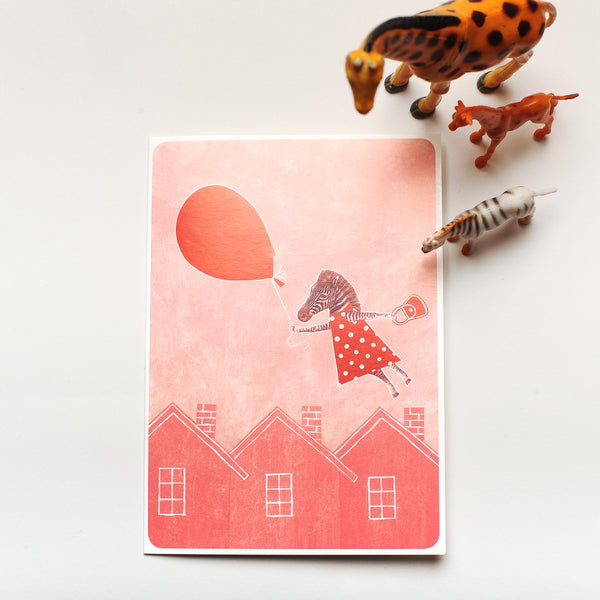 "A6 Joutomaa Greeting Card ""Balloon Trip"""