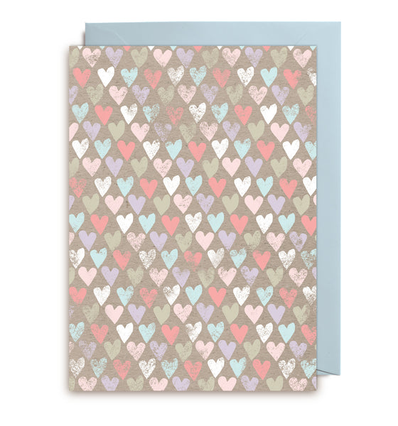 "Kort&Gott Greeting Card + Envelope ""Hearts"""