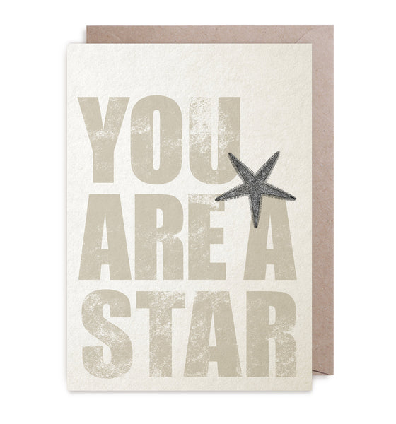 "Kort&Gott Greeting Card + Envelope ""You're A Star"""