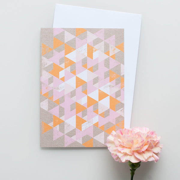 "Kort&Gott Greeting Card + Envelope ""Triangles"""
